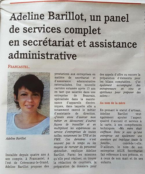 Assistante secretaire hauts de france picardie secretariat independant artisan prestation de services 60
